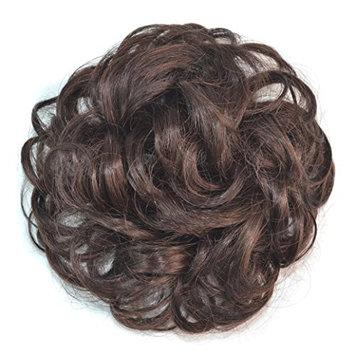 Binmer(TM) Pretty Woman Girl Curly Ponytail Holder Hairpiece Wig Hair Ring Bun (dark brown)