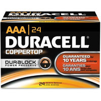 Duracell CopperTop Alkaline Batteries, AAA, 144/CT -DURMN2400BKD