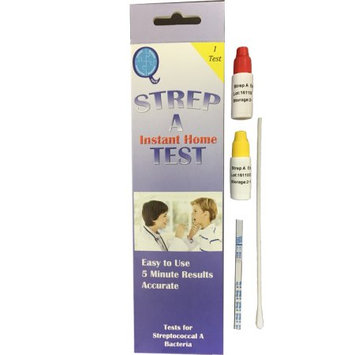 Qtest At Home Strep Test (single pack) Strep A Sore Throat Test