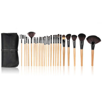 Anself 24Pcs Professional Makeup Brush Set Powder Brush Eyeshadow Eyeliner Eyebrow Brush+ Pouch Bag Case Black