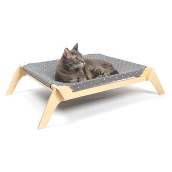 Primetime Petz Indoor Pet Lounge Gray / White Spots