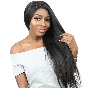Italian Yaki Straight Brazilian Lace Front Human Hair Wigs For Women Nature Black Color Lace Front Wigs With Baby Hair