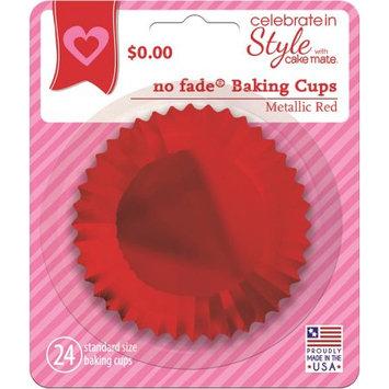 Signature Brands Llc Cake Mate Red Metallic No Fade Bake Liner 24ct