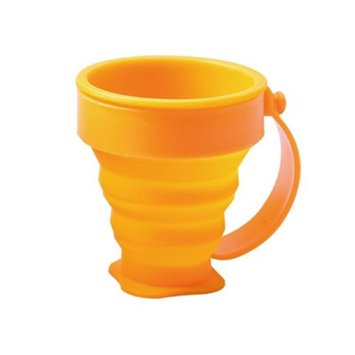 Summit Distribution ACE-1538 AceCamp Collapsible Silicone Cup with Handle Orange