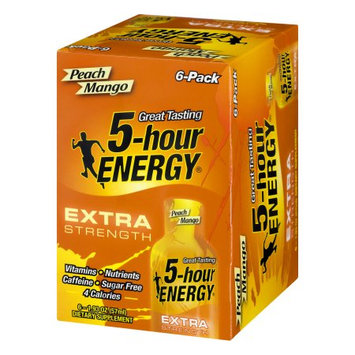 Living Essentials 5-Hour Energy Extra Strength Dietary Supplement Peach Mango - 6 CT