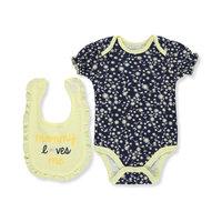 Baby Girls' Bodysuit & Bib Set