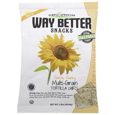 Way Better Snacks Simply Sunny Multi-Grain Tortilla Chips, 1.25 oz, (Pack of 24)