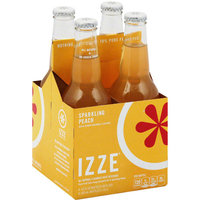 Izze Sprkl Peach Juice Beverage, 4 count, 48 fl oz, (Pack of 6)
