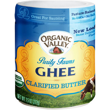 (12 Pack) Organic Valley Purity Farms Ghee Clarified Butter, 7.5 oz
