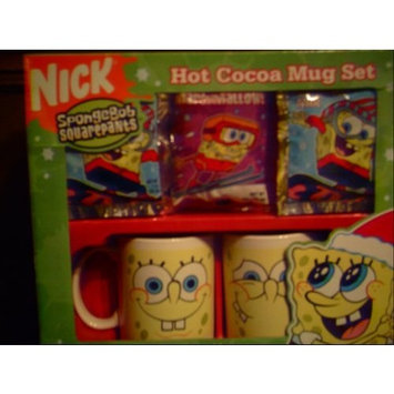 1 X Spongebob Hot Cocoa Mug Set, 2 Mugs and Cocoa Mix Included