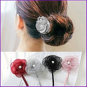 cuhair 4pcs Individual Flower Women Girl Hair Clip Hair Barrette Hair Accessories