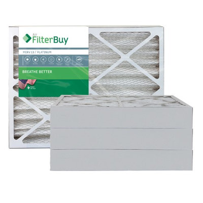 AFB Platinum MERV 13 20x24x4 Pleated AC Furnace Air Filter. Filters. 100% produced in the USA. (Pack of 4)