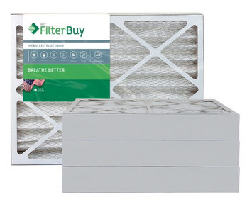 AFB Platinum MERV 13 25x28x4 Pleated AC Furnace Air Filter. Filters. 100% produced in the USA. (Pack of 4)