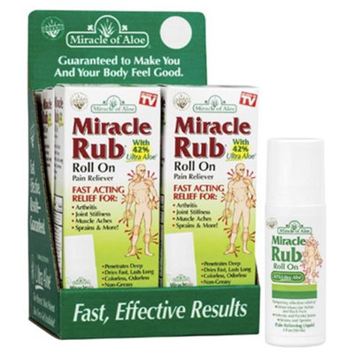 Miracle of Aloe 211096 3 oz Miracle Rub Roll on