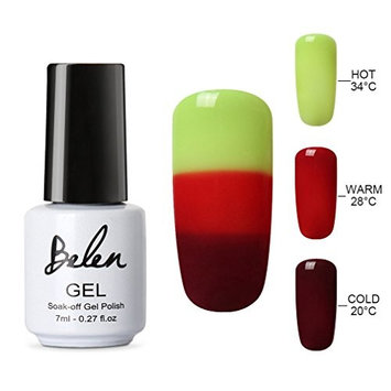 Belen Chameleon Color UV Gel Polish Soak Off Colorful Phantom Nail Art 2PCS 22009 + Black Gel 7ml