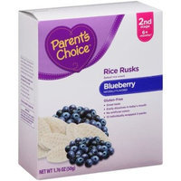 Parent's Choice Blueberry Rice Rusks Baked Rice Snack, 12 count, 1.76 oz