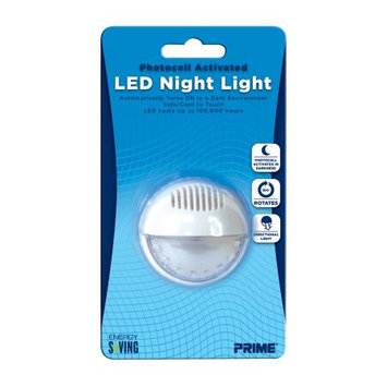 Prime Wire & Cable NLAR1 Automatic Rotating LED Night Light, 1 Pack