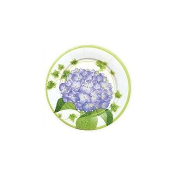 Paper Plates Dinner Size for Party Supplies, Weddings, Etc. by Caspari 10 Inch Round Hydrangea