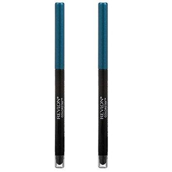 Revlon Colorstay Eye Liner, Teal (Pack of 2) + FREE Makeup Blender Sponge