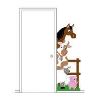 Elephants on the Wall 5-1322 Barnyard Doorhugger - Paint It Yourself