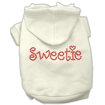 Mirage Pet Products 5478 LGCR Sweetie Rhinestone Hoodies Cream L 14