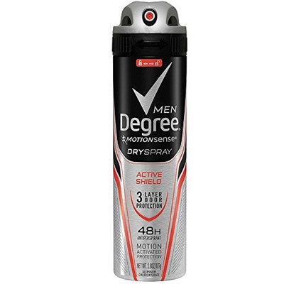 Degree Men MotionSense Dry Spray Antiperspirant, Active Shield 3.80 oz (Pack of 10)