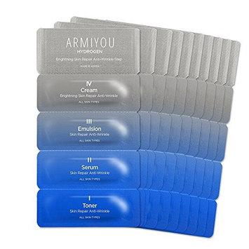 ANTI AGING 10 DAY MIRACLE KIT [ARMIYOU] Ultra Moisturizing Hydrogen Face Moisturizer Toner Lotion Serum Cream for Anti-Wrinkle Women Men Skin Repair Rejuvenation Dry Sensitive Eczema Acne