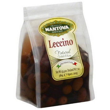 Mantova Leccino Natural Whole Olives, 13.4 oz, (Pack of 6)
