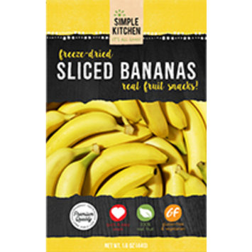 Simple Kitchen Freeze-Dried Bananas, Single Serve Pouch, 1.6 Oz