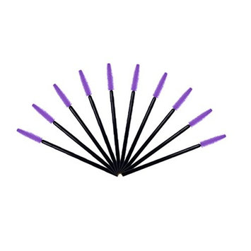 10 Pcs Disposable Silicone Eyelash Mascara Wands Brushes Cosmetic Eyelash Extension Applicators Professional Makeup Tool Set by...