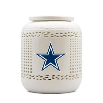 Duck House Sports NFL DALLAS COWBOYS AROMA NIGHT LIGHT WITH PORCELAIN DISH & BASE