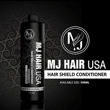 MJ Hair Shield Conditioner, hair regrowth conditioner with biotin, sulfate and paraben free (500 ml, black)
