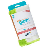 Microfiber 2-in-1 Glass Cleaning Towels, 2ct