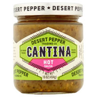 Desert Pepper Trading Company Desert Pepper, Salsa Cantina Hot Green, 16 Oz (Pack Of 6)