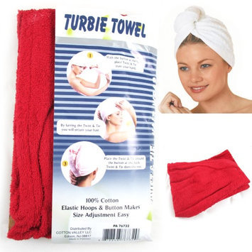 Atb 2 Pc 100% Cotton Terry Large Hair Head Wrap Turbie Towel Spa Soft Cap Fast Dry