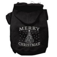 Mirage Pet Products Shimmer Christmas Tree Pet Pet Hoodies Black Size XS (8)