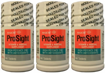 MAJOR PROSIGHT VIT & MINERAL SUPP TABS ASCORBIC ACID-60 Mg Gray 60 TABLETS UPC