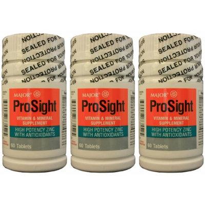 MAJOR PROSIGHT VIT & MINERAL SUPP TABS ASCORBIC ACID-60 Mg Gray 60 TABLETS UPC