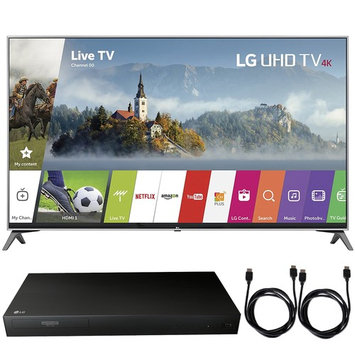 LG 55UJ7700 - 55-inch UHD 4K HDR Smart LED TV (2017) + Blu-Ray Player Bundle