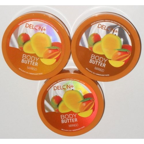 Delon+ Delon Intense Moisturizing Mango Body Butter 6.9 Oz (3 Pack)