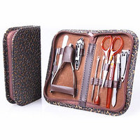 BeautyKO 10 Pieces Total Nail Care Manicure/Pedicure Set with Case