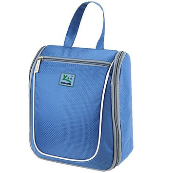Leben Outdoor Portable Travel Mens/Ladies Large Toiletry Wash Bag Storage Cosmetic Makeup Hanging Bags [Blue]