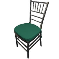 LA Linen PopChiavaryPadCover-Pk4-TealP43 Polyester Poplin Chiavary Chair Cushion Cover Teal - Pack of 4
