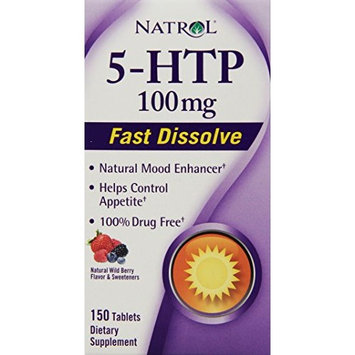Natrol 5-HTP HFF Fast Disolve Tablets, 100mg, 150 Count