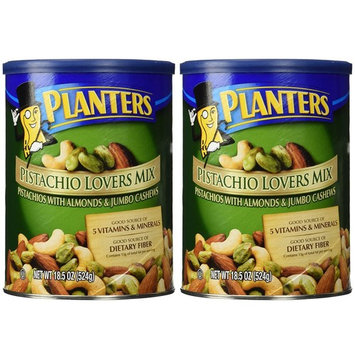 Planters Pistachio Lovers Mix, Salted, 18.5 Ounce Canister
