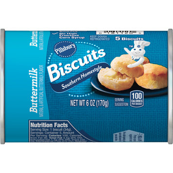 Pillsbury Southern Homestyle Buttermilk Biscuits, 5 Ct, 6 oz