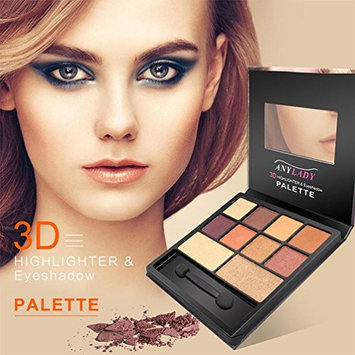 10 Colors Eyeshadow Palette, CYCTECH Matte Eye Shadow Professional Cosmetic Brush Set Shimmer Makeup Kit