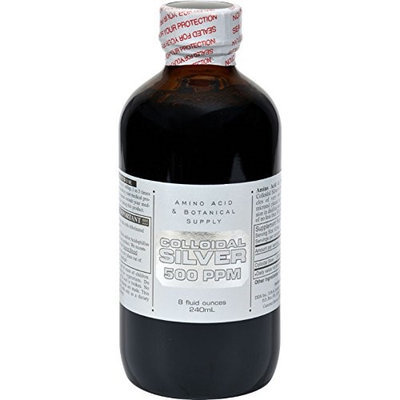 Amino Acid & Botanical Amino Acid and Botanical Supply Colloidal Silver - 500 ppm - 8 fl oz - HSG-399832