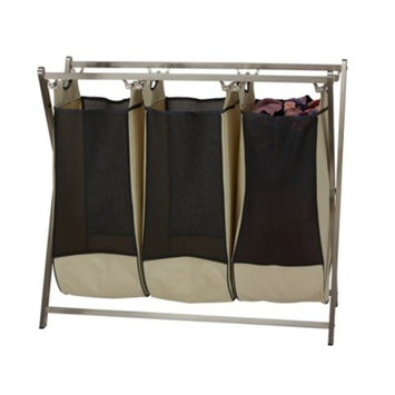 Household Essentials Triple Stainless Industrial Laundry Sorter