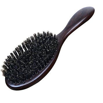 MARIAHANAN Natural Sandalwood Fine Comb Anti-Static Care Brush head Natural Wild Boar Bristles Hair Brush Green Sandalwood Hair D50